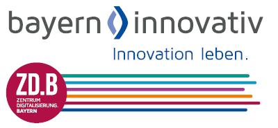 Logo Zentrum Digitalisierung.Bayern und Bayern Innovativ